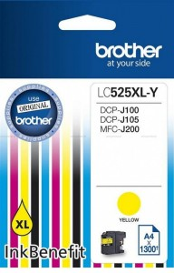 Brother Tusz LC525XLY YELL 1300 do DCP-J100 DCP-J105